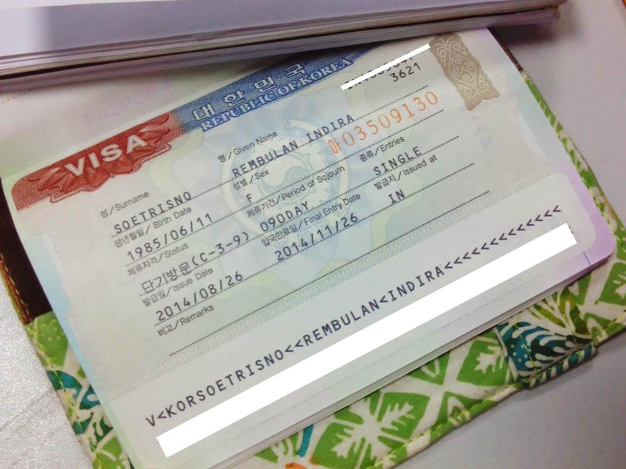 Mengurus Visa Korea Selatan