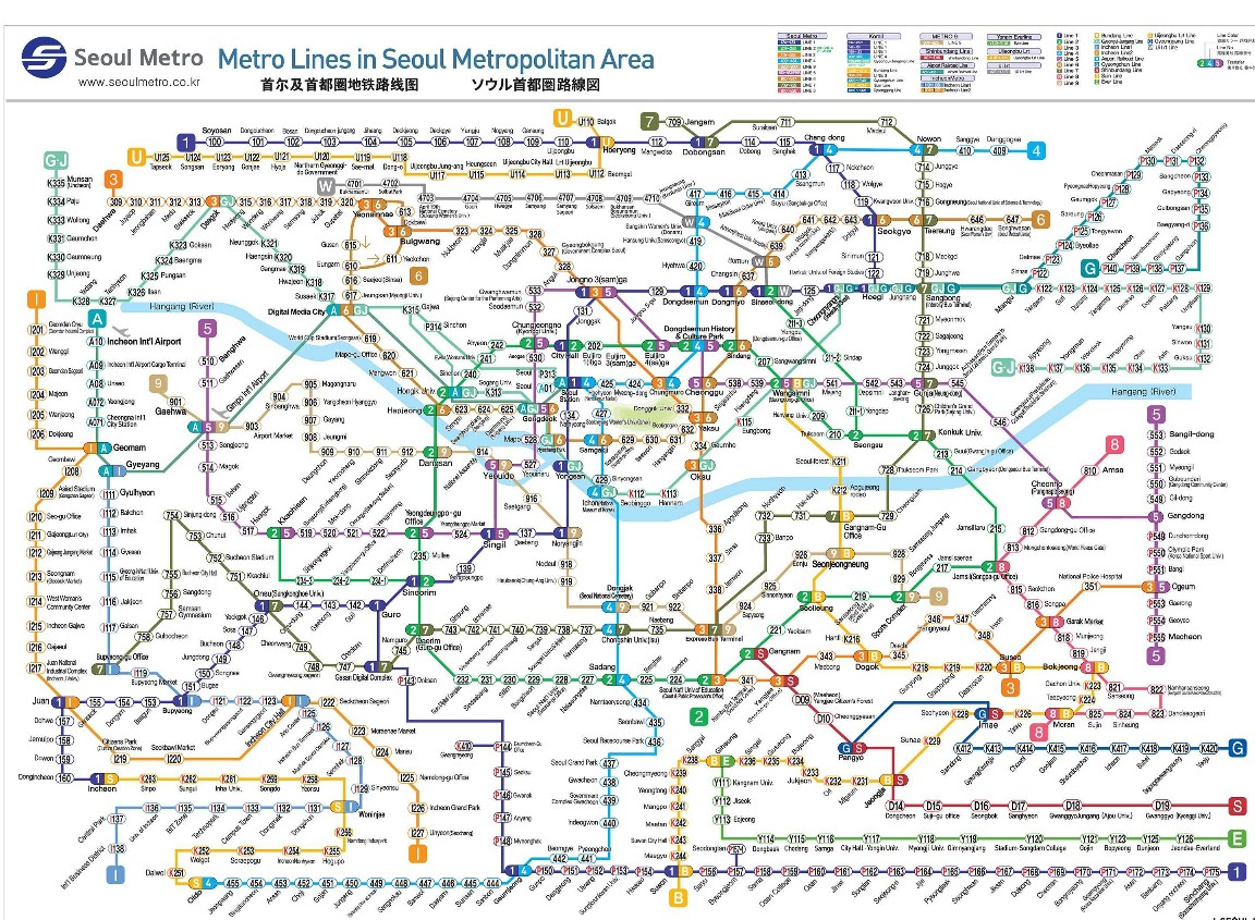 Peta Metro Seoul