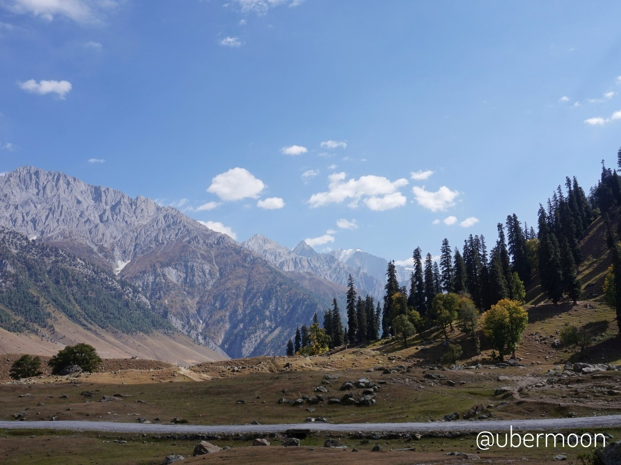 Pemandangan di Sonamarg Kashmir