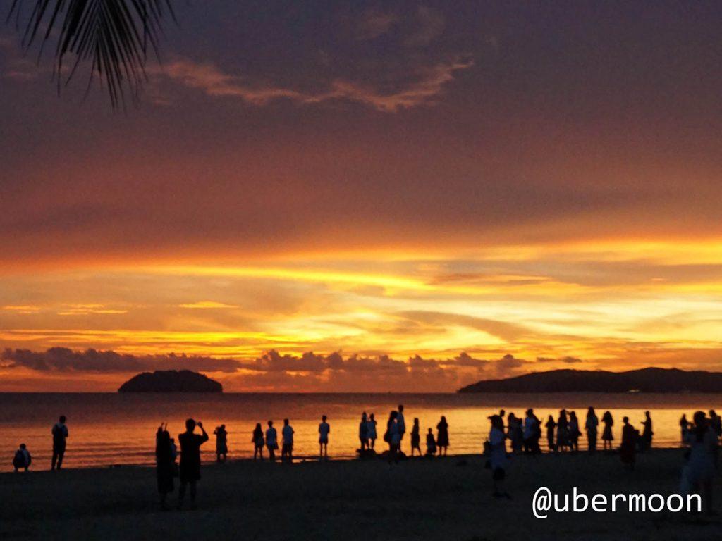 Sunset di Tanjung Aru Kota Kinabalu