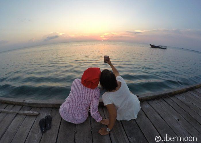 Trip ke Derawan melihat sunset