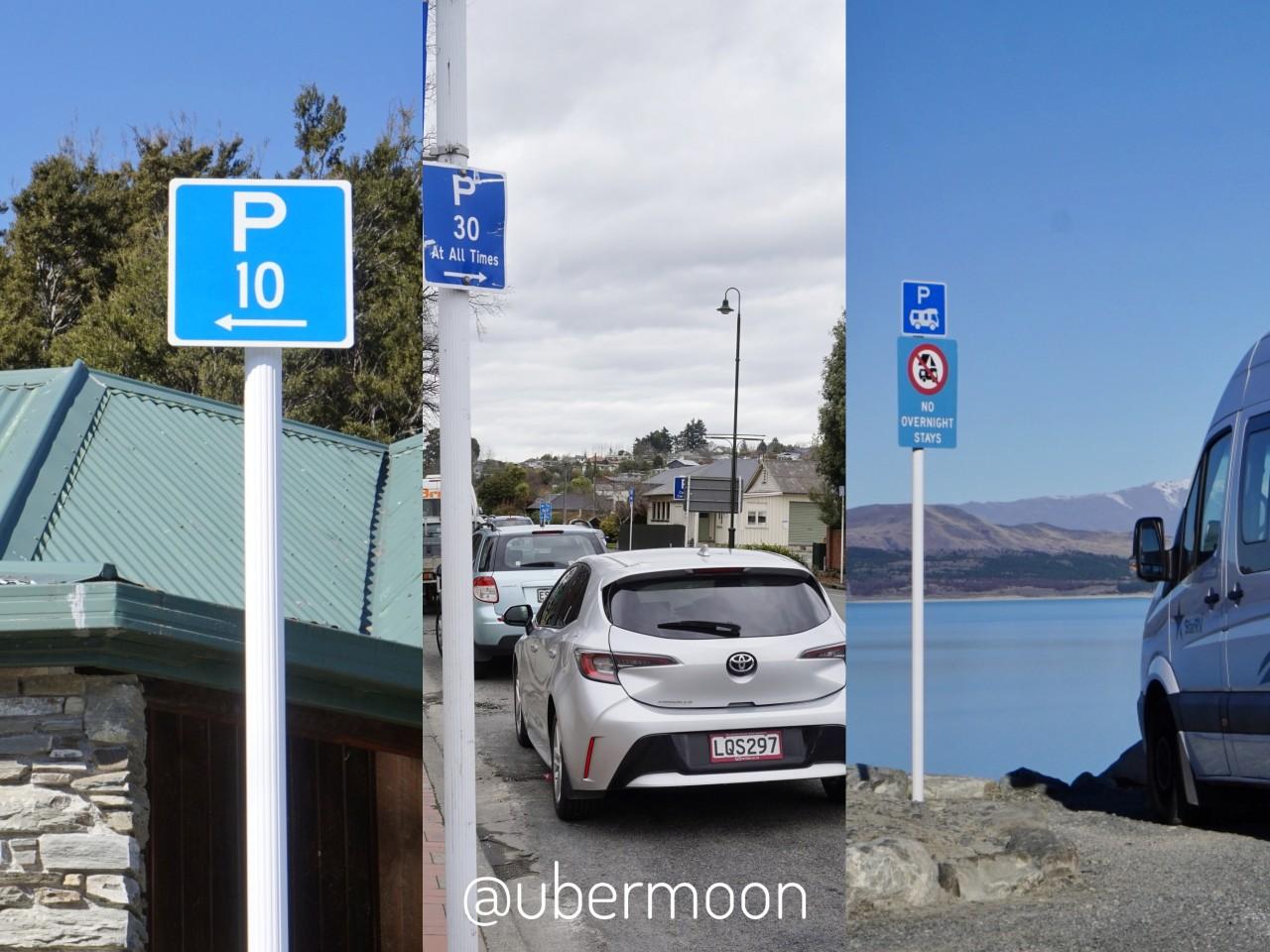 Berbagai Plang Parkir di New Zealand