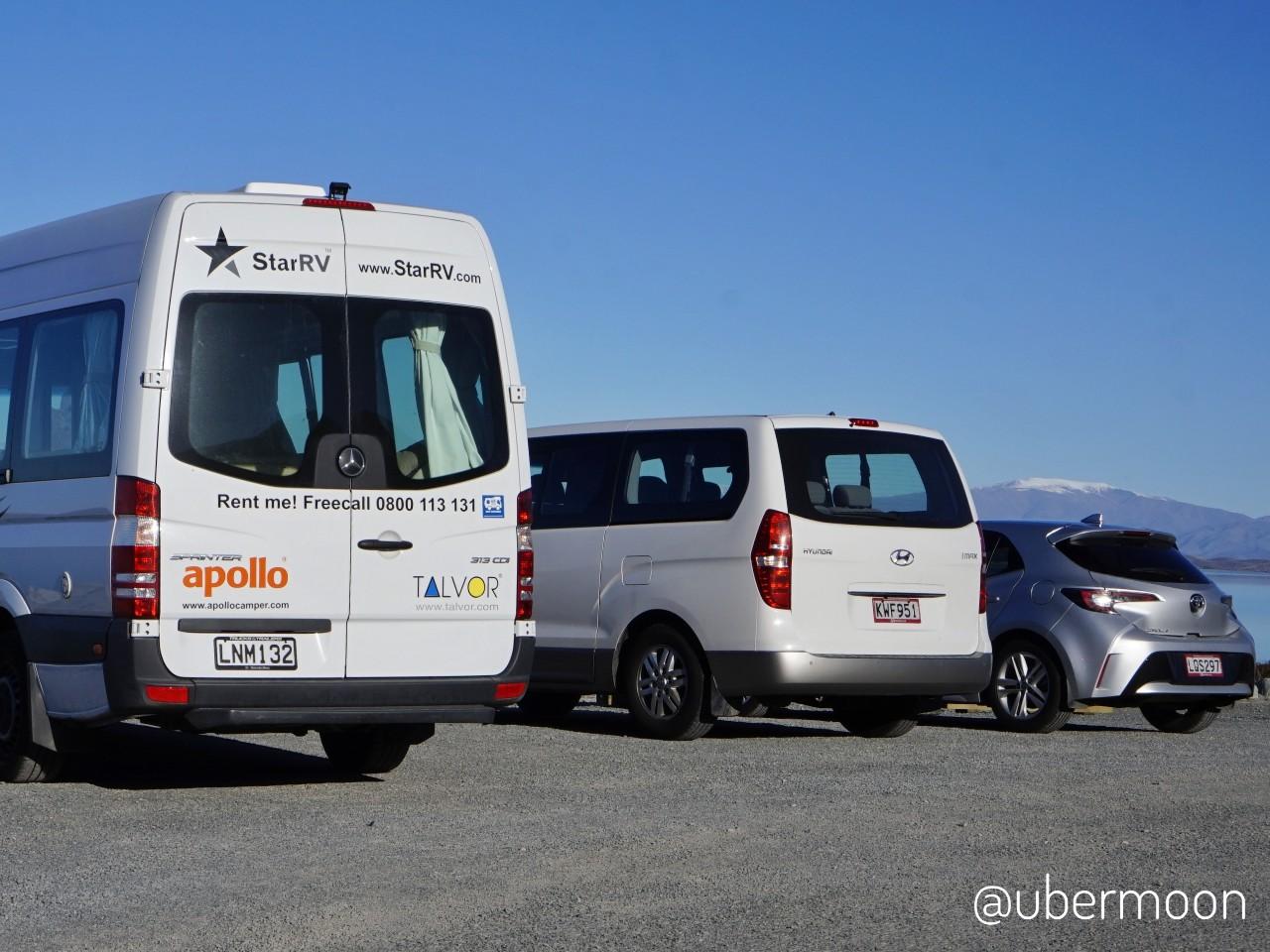 Mobil-mobil sewaan di New Zealand